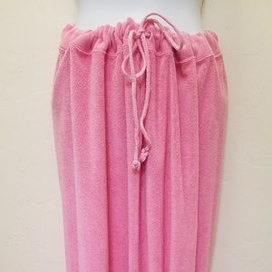 Pink Terrycloth Maxi Skirt Tube Dress